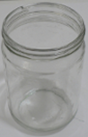 Jar ready to become a container candle