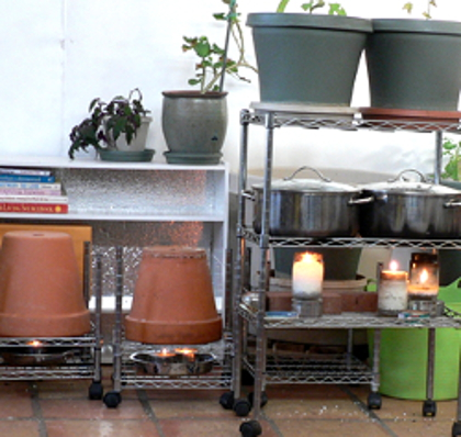 Flower Pot and Survival Candle Heating & Candle heating - off grid insights